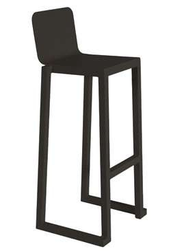 kunststof barkruk barcino kleur: zwart
