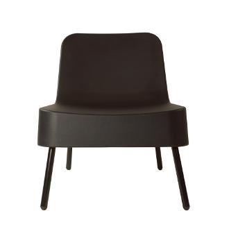 Kunststof Loungestoel BOB van Resol kleur: zwart