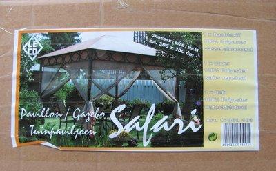 Leco dak safari paviljoen 3x3 meter. levering voorjaar 2019