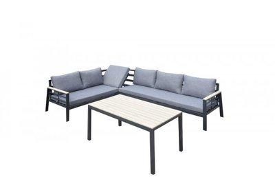 Aluminium hoek loungeset Vamos antraciet