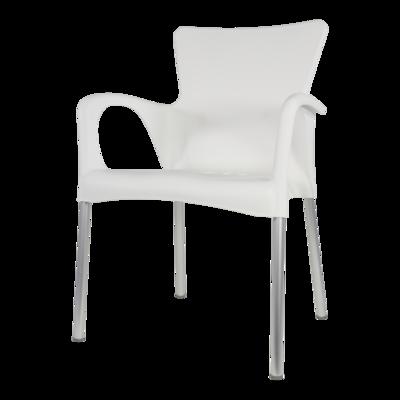 Bella stapelstoel van Lesli living wit