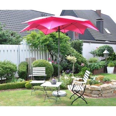 Blute ronde parasol 270 cm, kleur: beere