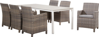 tuinset eden grande, kleur: lagun, 4seasonsoutdoor comfort top tafel