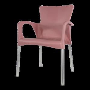 lesli living bella stapelstoel zacht roze