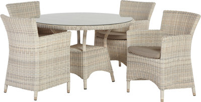Wicker Tuintafel Rond.Tuinset Wicker Eldorado 4seasonsoutdoor 4x Eldorado