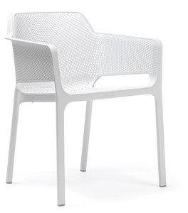 nardi stoel net vol kunststof en stapelbaar in de kleur bianco/wit