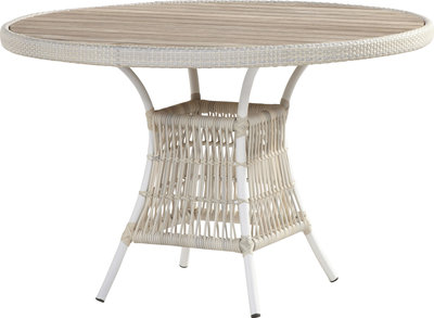 Wicker Tuintafel Rond.Loire Tuintafel Rond 117 Cm 4 Seasons Outdoor