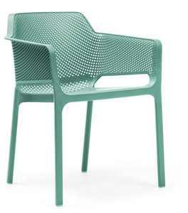 nardi stoel net vol kunststof en stapelbaar in de kleur celeste