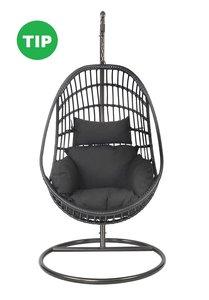 Hangstoel Sturdy black Lesli Living