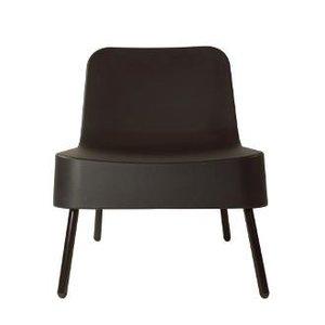 kunststof loungestoel BOB van Resol Joan Gaspar kleur zwart