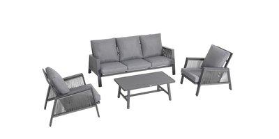 sens line mallorca loungeset aluminium textileen