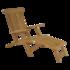 Teak deckchair verstelbare rugleuning